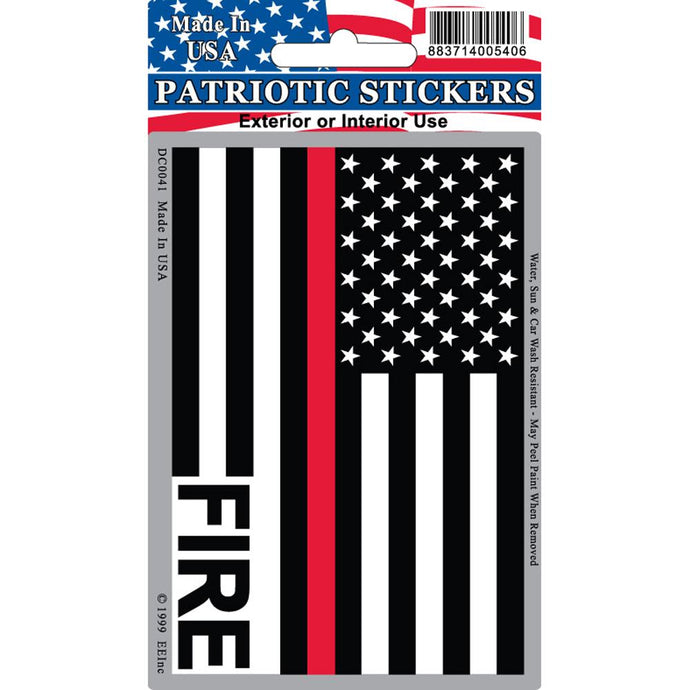 FIRE, RED LINE, USA STICKER