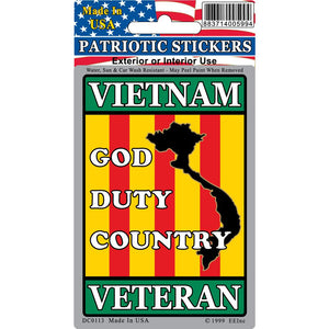 VIETNAM, VETERAN STICKER