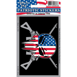 SNIPER SKULL/RIFLES STICKER