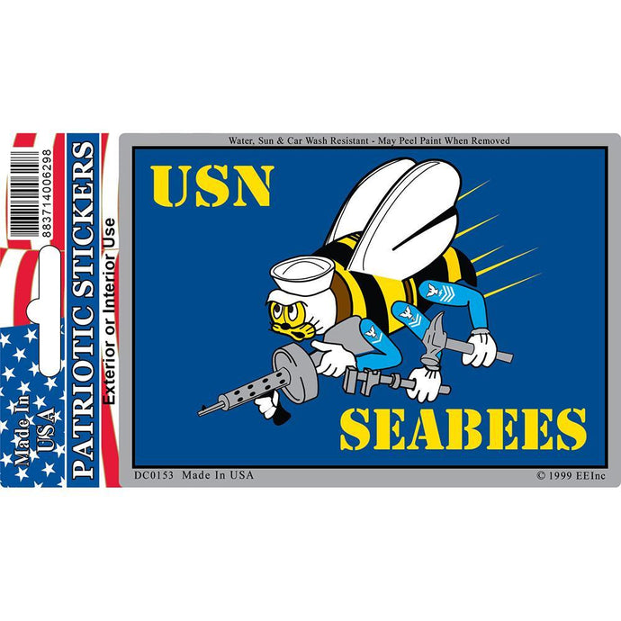 US NAVY, SEABEES STICKER