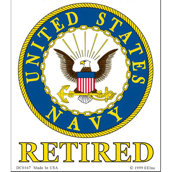 US NAVY LOGO, RETIRED STICKER