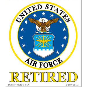 US AIR FORCE EMBLEM, RETIRED STICKER