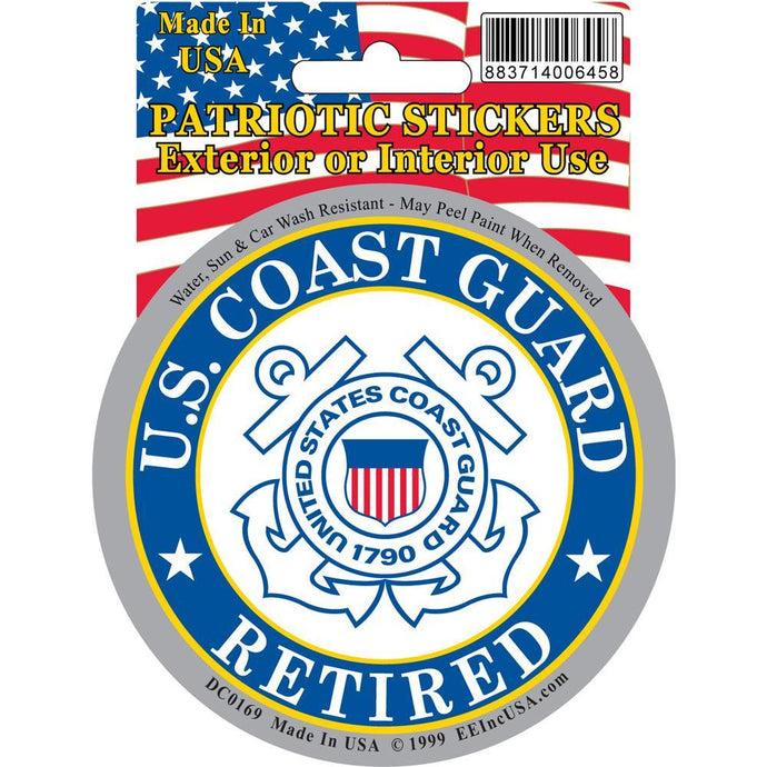US COAST GUARD LOGO, RETIRED STICKER