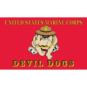 US MARINE CORPS DEVIL DOG FLAG