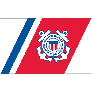 US COAST GUARD RED, WHITE AND BLUE FLAG