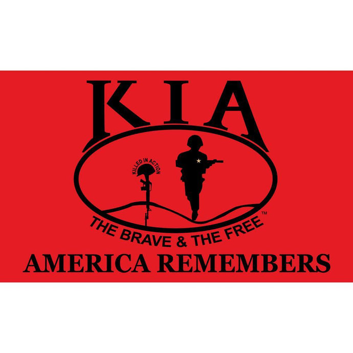 KIA KILLED IN ACTION HONOR FLAG