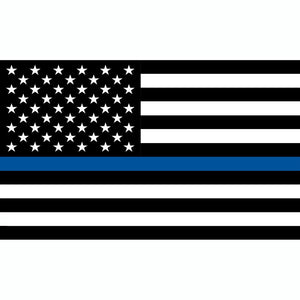 POLICE, THIN BLUE LINE FLAG