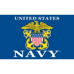 US NAVY LOGO II FLAG
