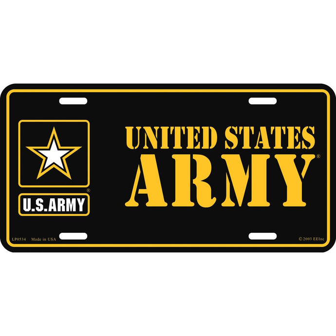 ARMY LOGO, US ARMY LICENSE PLATE