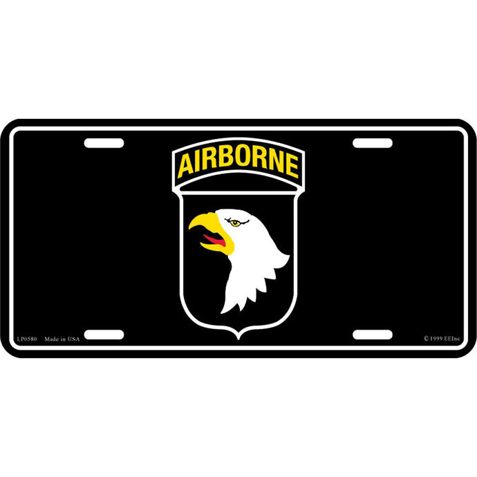 ARMY 101ST AIRBORNE LICENSE PLATE