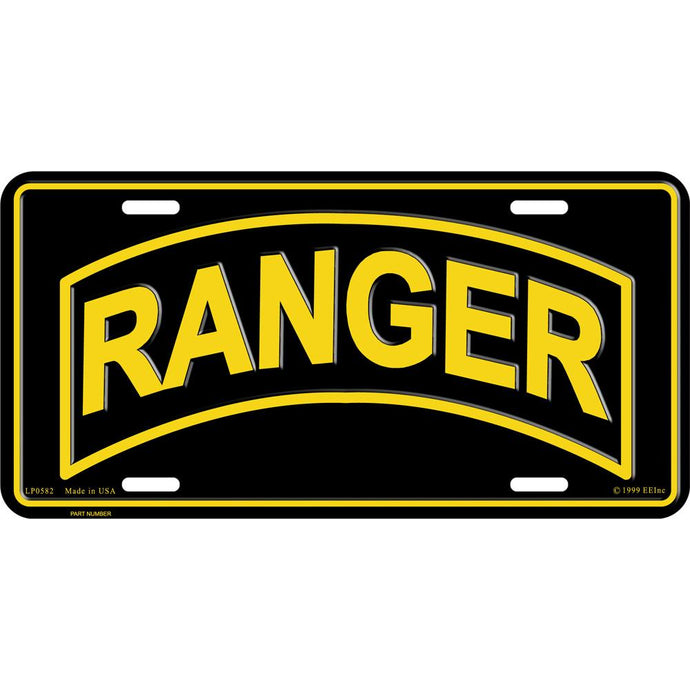 ARMY, RANGER LICENSE PLATE