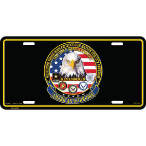 AMERICAN WARRIORS LICENSE PLATE