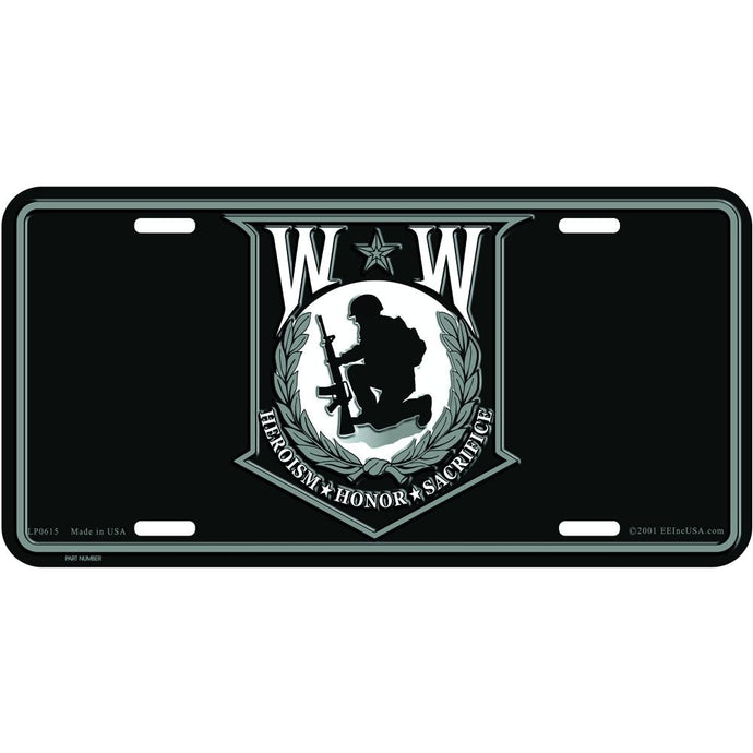 WOUNDED WARRIOR LICENSE PLATE