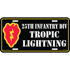 ARMY 25TH INFANTRY DIV LICENSE PLATE