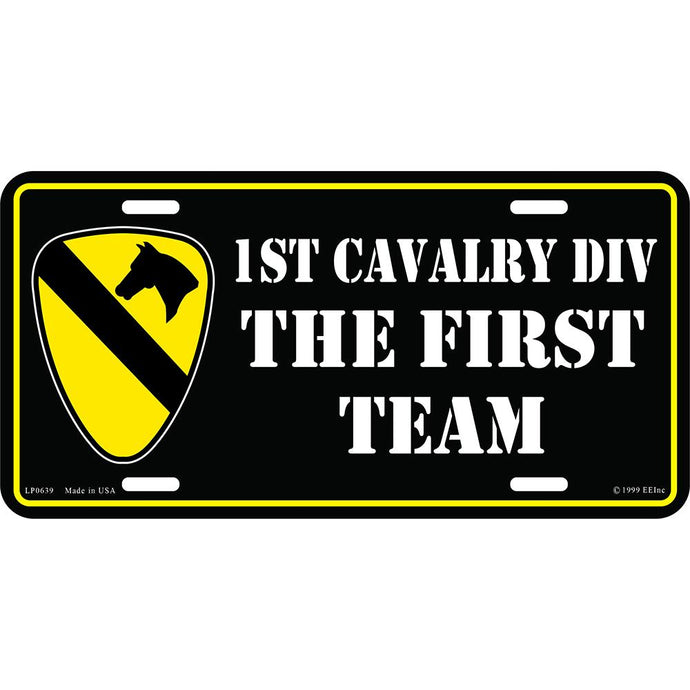 ARMY 1ST CAVALRY DIV LICENSE PLATE