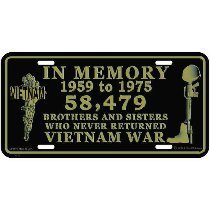 VIETNAM, IN MEMORY LICENSE PLATE