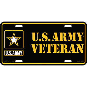 ARMY LOGO, VETERAN LICENSE PLATE