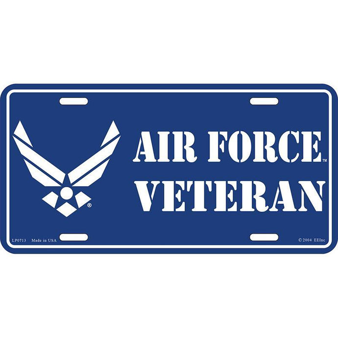 US AIR FORCE SYMBOL VETERAN LICENSE PLATE