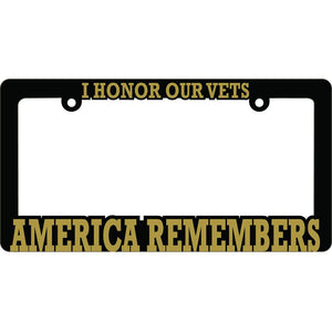 AMERICA REMEMBERS LICENSE PLATE FRAME