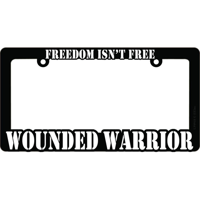 WOUNDED WARRIOR LICENSE PLATE FRAME