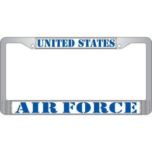 US AIR FORCE CHROME LICENSE PLATE FRAME