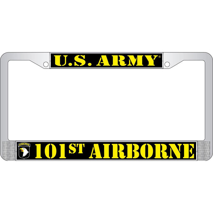 ARMY 101ST CHROME LICENSE PLATE FRAME