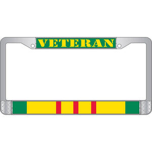 VIETNAM SVC VETERAN CHROME LICENSE PLATE FRAME