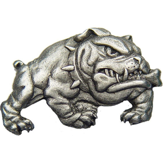 BULLDOG PEWTER HAT PIN