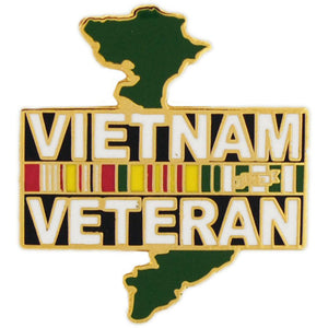 VIETNAM VETERAN, SVC RIBBON HAT PIN