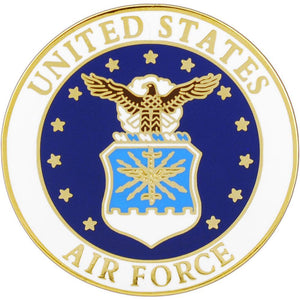 US AIR FORCE EMBLEM HAT PIN