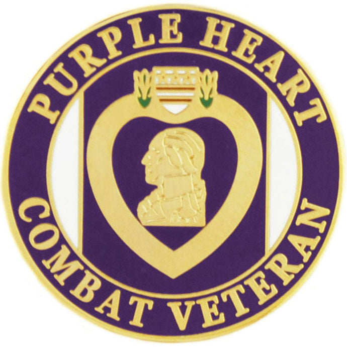 PURPLE HEART, COMBAT HAT PIN