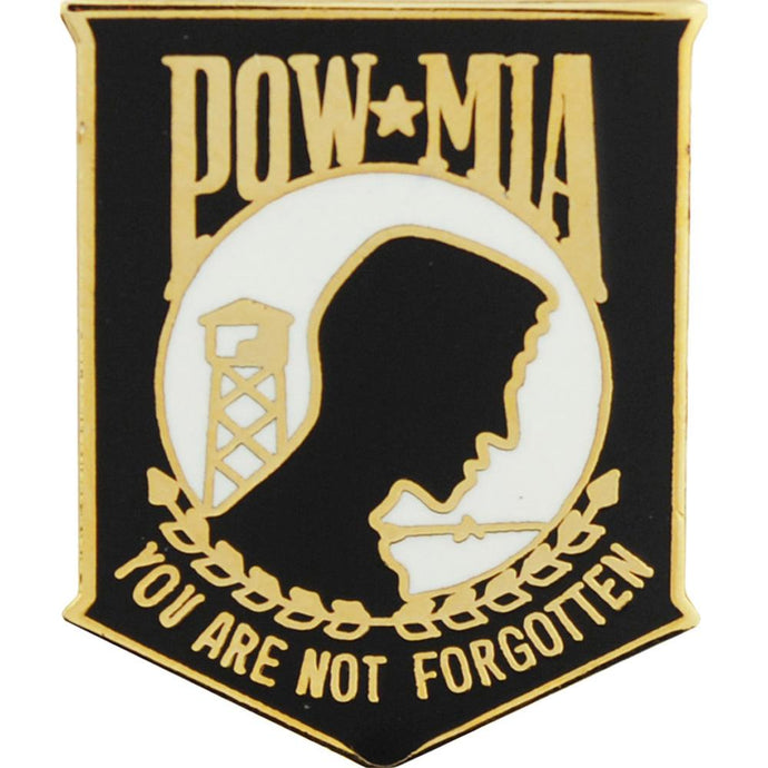 POW*MIA, YOU'RE NOT FORGOTTEN BLACK HAT PIN