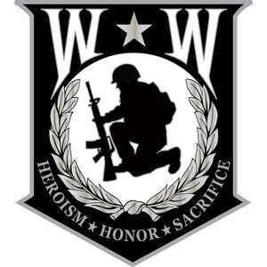 WOUNDED WARRIOR HAT PIN