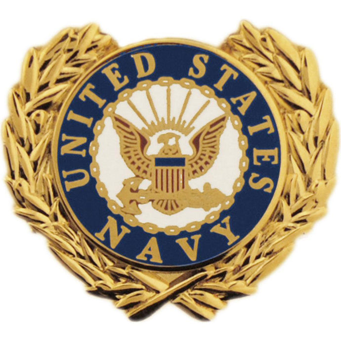 US NAVY LOGO, WREATH HAT PIN