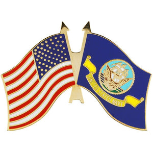 US NAVY FLAG, USA FLAG HAT PIN