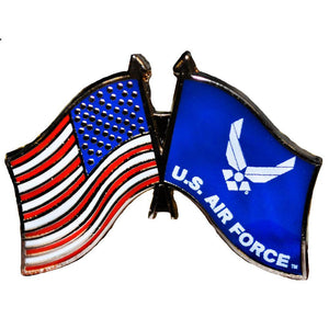 US AIR FORCE FLAG, USA FLAG HAT PIN