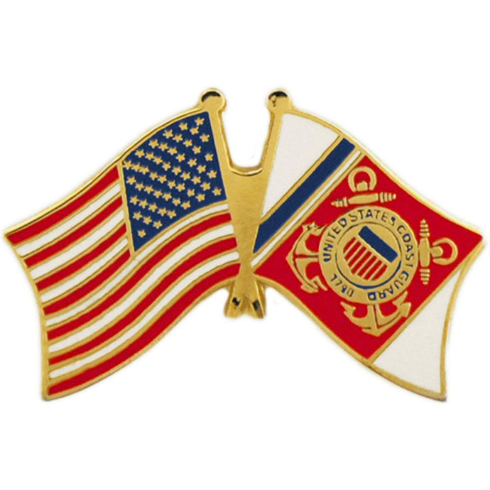 US COAST GUARD FLAG, USA FLAG HAT PIN