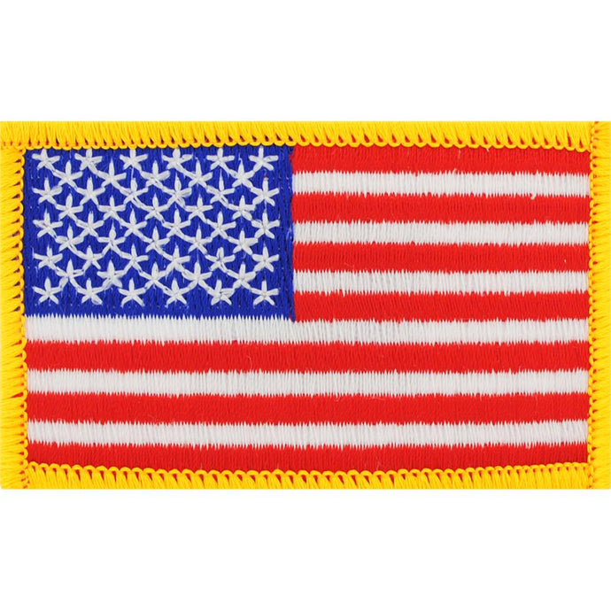 USA FLAG, GOLD PATCH