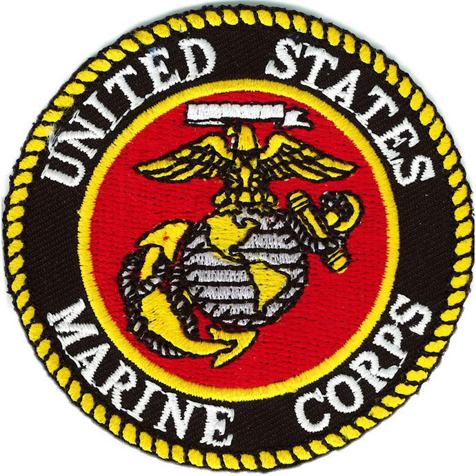 US MARINE CORPS LOGO GRAY PATCH