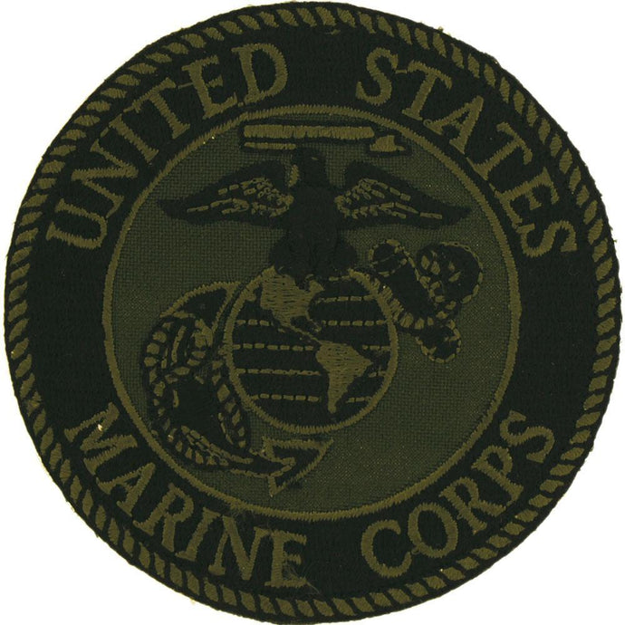 US MARINE CORPS LOGO GREEN PATCH