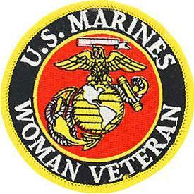 US MARINE CORPS WOMAN VET PATCH