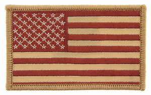 USA FLAG, BROWN PATCH
