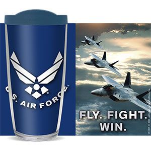 US AIR FORCE THERMAL 16oz CUP W/ LID