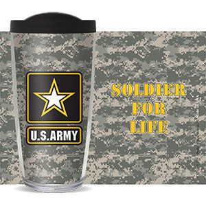 US ARMY CAMO THERMAL 16oz CUP W/ LID