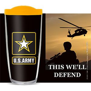 US ARMY THIS WE'LL DEFEND THERMAL 16oz CUP W/ LID
