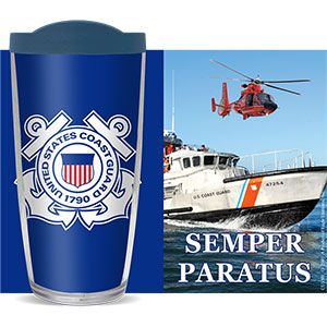 US COAST GUARD THERMAL 16oz CUP W/ LID