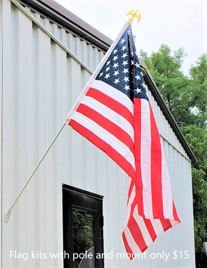 AMERICAN FLAG KIT W/ POLE AND MOUNT