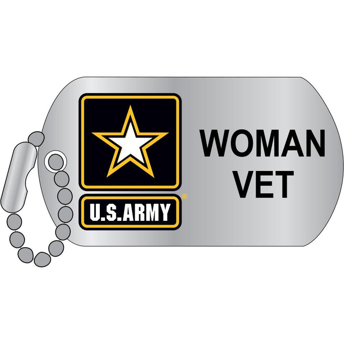 ARMY, WOMAN VETERAN HAT PIN