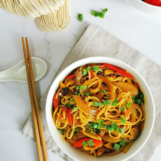 Curry & Pepper Noodles (Mee goreng mamak - healthier version)