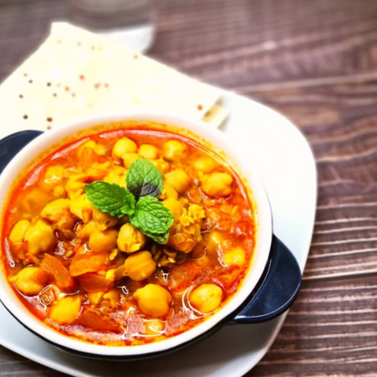 Curry Dhal with Chickpea